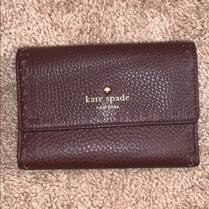 brand new cute purpley brown kate spade wallet